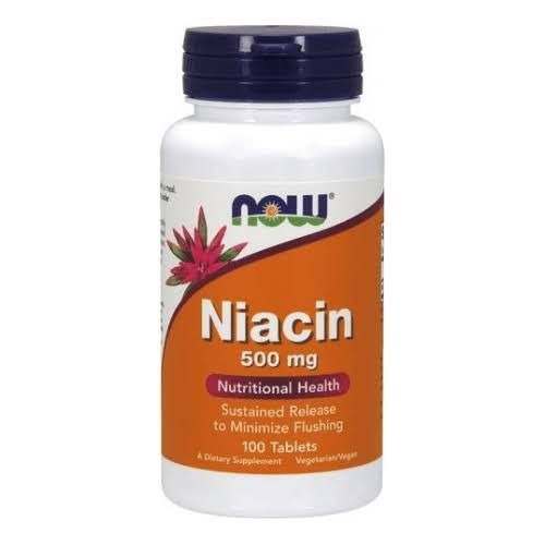 Now Foods Niacin - 100 Tablets, 500mg