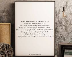 F Scott Fitzgerald Framed Art