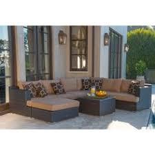 Sirio Patio Furniture Soho by Cancun Sand 4 Piece Modular Deep Seating Set On Sale For 1300