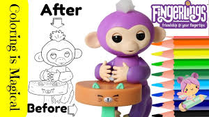 Come Up Close While I Color This Toy Fingerling Mia She Sits At