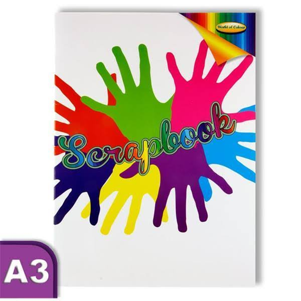 World of Colour A3 60 Page Scrapbook - Assorted Colour Pages