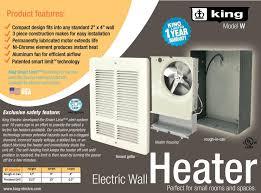 Broan 162 Heat Lamp by Amazon Com King W2415 1500 Watt 240 Volt Wall Heater White Home