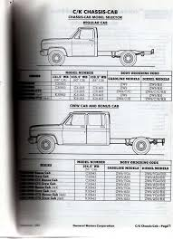 cab and chassis specs The 1947 Present Chevrolet & GMC Truck