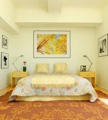 Retro Antique Yellow Bedroom Design Ideas With Painting On Wall Summer Picture Awesome