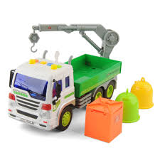 100 Rubbish Truck KidToys 116 Recycling Garbage Bin Lorry LightSound