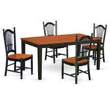 East West Furniture NIDO6-BCH-W 6 PC Dining Room Set With Bench-kitchen  Tables And 4 Dining Chairs Plus Bench In Black And Cherry-Finish:Black & ... Kitchen Ding Room Fniture Scdinavian Designs Cape Cod Lawrence Dark Cherry Extension Table W6 Tom Seely Solid W 6 Chairs Sets And Chair Dock86 Universal Upscale Consignment 26 Big Small With Bench Seating 2019 Gently Used Ethan Allen Up To 50 Off At Chairish East West Nido6bchw Pc Ding Room Set Bkitchen Tables 4 Plus Bench In Black Cherryfinishblack And Cm88 Roccommunity Steve Silver Tournament Arm Casters Set Of 2 Oval American Drew Cherry 7 Pieces Used Leaf Finish Glass Top Modern Woptional Items