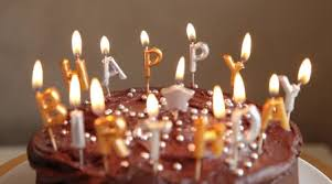A chocolate birthday cake with candles Royalty Free Stock Footage