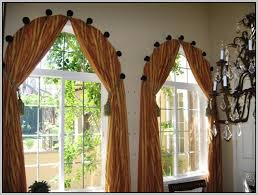 Curved Curtain Rod For Arched Window Treatments by Curved Curtain Rod For Arched Window Curtains Home Design
