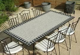 table ronde mosaique fer forge chaise de jardin en fer forge spitpod