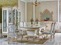 klassisches esszimmer komplett set mit tisch 8 stühlen barock rokoko stuhl set
