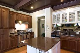 White And Brown Color Cabinet Kitchen