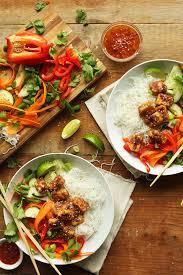 de cuisine thailandaise noodle bowl with almond butter tofu minimalist baker recipes