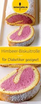 diabetiker kuchen bezaubernd biskuitrolle himbeercreme