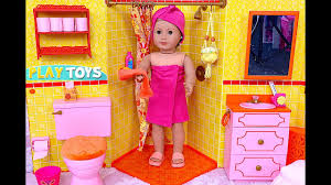 Vintage Bisque Baby Doll In Porcelain Bath Tub Doll House