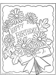 Happy Birthday Page To Print And Color