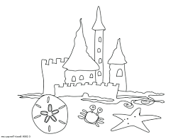 Sand Castle Coloring Pages To Print Easy Page Click Small Image Open Large Free Preschool