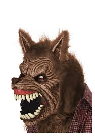 Spirit Halloween Animatronic Mask by Brown Werewolf Ani Motion Mask