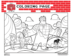 Line Drawings Online Disney Infinity Characters Coloring Pages With Downloadable Wreck It Ralph