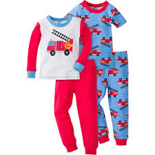 4-Piece Boys Firetruck Snug Fit PJs – Gerber Childrenswear