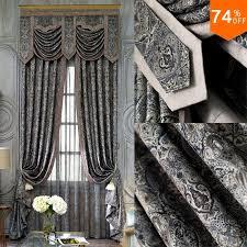 schwarze stickerei aus vorhänge dunkelgrau arbeitszimmer vorhang klassische designer wohnzimmer pontifical schlafzimmer vorhang