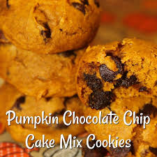 Cake Mix Pumpkin Cookies by These Pumpkin Chocolate Chip Cake Mix For The Love Of Food Blog