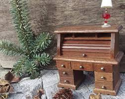 Ethan Allen Dark Pine Roll Top Desk by Roll Top Desk Etsy