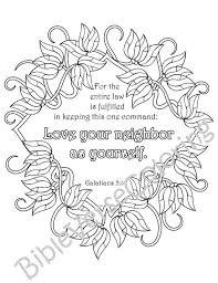 5 Bible Verse Coloring Pages Inspirational Quotes DIY Adult Printable Sheets PDF Instant Download Flower