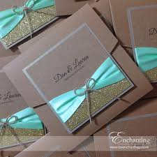 Lauren Dan Opted For Mint Green Rustic Invites From The Tinkerbell Collection Which Were Given A Bit Of Extra Sparkle With Gold Glitter