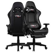 Cyrola Racing Gaming Chair For PC Gamer High Back 90-180 Adjustable Video  Game Chair For Adults 360 Swivel Large Size Ergonomic Computer Office  Gaming ...