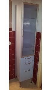 ikea asnen badezimmer hochschrank blau silber in 28359