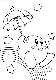 Umbrella Coloring Pages Of Kirby
