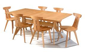 Custom Built Solid Cherry Wood Audrey Dining Table And Chair Set With Natural Finish