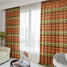 amerikanischer vorhang bunte geometrisches muster für wohnzimmer