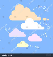 100 Flat Cloud Simple Database Icons
