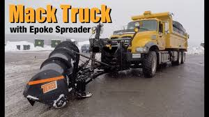NEW Mack Granite Snow Plow With Epoke Salt Spreader - YouTube Detroit Hiring Dozens Of Salt Truck Drivers Dicer Salt Spreaders East Penn Carrier Wrecker Garching Germany Small Truck At Work On Wintertime Editorial Lansing Hits Overpass Spills On Road Gps Devices Added To The Arsenal Snowfighting Equipment I See They Wont Make Same Mistake Twice Nyc 2009 Freightliner Dump Truck With Swenson Salt Spreader Eastern Surplus Food The Dirty Ice Cream Blog Driver Snow And Treatment Springfield Township Oh Official Website