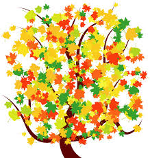 Autumn Tree with Colorful Falling Leaves Free vector image 365PSD