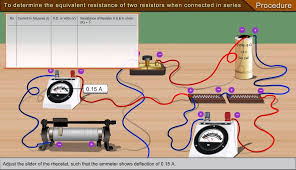 To Determine The Equivalent Resistance Of Two Resisters When Connected In Series