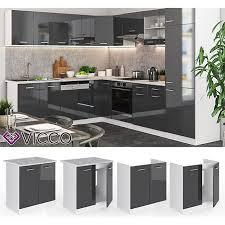 vicco küche r line spülenunterschrank 80 cm verschiedene farben