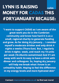 100 Cadas On Twitter Lynn Is Taking Part In Our DryJanuary