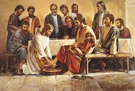 Jesus Washing The Apostles Feet Of