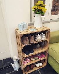 2 X Wooden Crate Storage Shoe Rack Rustic Style Shabby Chic Display Unit Toy
