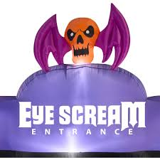 Halloween Inflatable Archway Entrance by Gemmy Airblown Inflatable 9 5 U0027 X 7 U0027 Archway Eye Scream Halloween