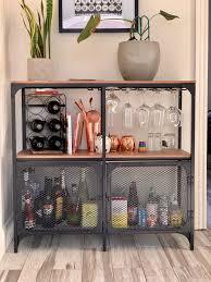fjällbo shelf unit diy hausbar wohnung wohnzimmer