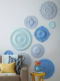 Split Design Ceiling Medallion by How To Make An Easy Diy Yarn Wall Hanging Hgtv