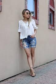 summer must have bermuda skinny denim shorts u2013 l e n a x s t y l e