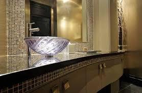 Brown Mosaic Bathroom Mirror by Mirror Mosaic Tiles In Bathrooms Ideas Amazing Round Mosaic Wall