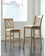 ashley mestler dining upholstered side chair set of 2