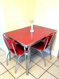 Retro Dining Table And Chair Breathtaking Kitchen Sets Red Chairs Photo