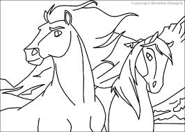 Horse Coloring Pages Spirit And Rain