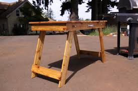 Andrew Stahr Specialty Woodworking Portable Barbecue Table